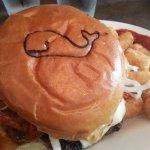 Cute branding on the bun