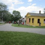 Random houses in the Village at The Genesee Country Village and Museum
