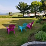 Seating area near the entrance with a view of Dingle Bay