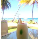 Piña Colada paired with a breathtaking view