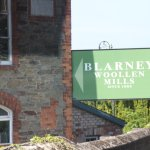 This is the sign at the entrance to the Blarney Wollen Mills (I was forced to write a descriptio