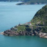 A view of Fort Amherst Lighthouse from Signal Hill