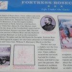 Board describing Fortress Rosecrans