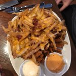 Loaded Blooming Onion. Yum with about a zillion calories.