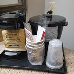 Coffee Pot, Coffee & Condiments