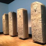 Stelae from Meso-American collection.