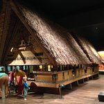 A replica of Maori ceremonial house, in the Oceania collection.