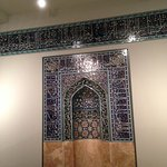 In the exhibition area of Islamic arts from Central Asia