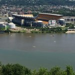 view of Heinz Field from Mt. Washington