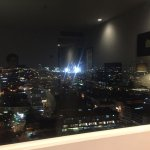 The view from the room on the 17th floor