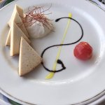 A choice of fried and fresh cheese as part of the selection available in the the upper dining ar