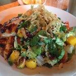 Chicken, mango and avocado salad