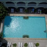 Aerial view, one of them is PP rooms poolside