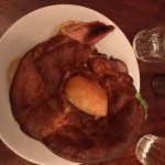 The half portion of the Sunday roast was just perfect. Still came with the giant Yorkshire puddi