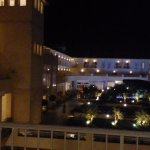 View from our balcony in the evening