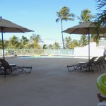 Pool exiting our Poolside Lanai. Perfect. Chairs available!