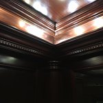 Look at the woodwork in the elevators! Love this place.