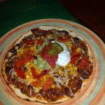 TOSTADA with Chili con Carne