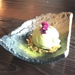 Scrumptious green tea ice cream, full of flavour and very smooth