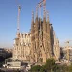 View of Sagrada Familia from the rooftop