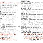 menu en français
