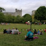 waiting for the knight fight with arundel castle in background