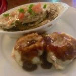 Stuffed flounder with mashed potatoes