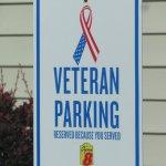 Designated Veteran's parking space