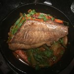 red snapper in pan