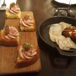 Duck liver pate and tuna tartar
