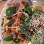 Shrimp tacos with side Caesar