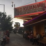 Hot and windy wait for a table at Red Iguana