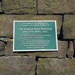 Kinder Trespass plaque, Kinder Road, Hayfield