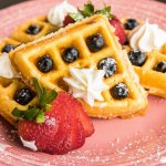 Belgian Waffle with fresh mixed berries