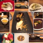 Various courses and Tea Pairings