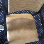 Very dirty chair in suite