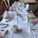 A typical top table on  a wedding day!!