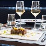 Beef tartar, caramelized onion, quail egg, Atlantic anchovy mayonnaise