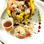 Caribbean shrimp salad.