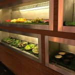 Breakfast Options - Western selection Salads and fruits