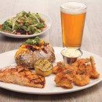 Combo Platter - Salmon & Crispy Shrimp
