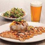 Combo Platter - Salmon & Grilled  Shrimp
