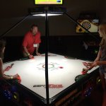 My husband's company hosted a private party at ESPN Zone. We had a good time and the young kids
