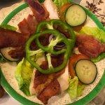 A delicious Chicken & Bacon salad