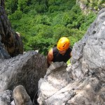 Front side of Via Ferrata at the starting point