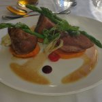 Breast of Creedy Carver Duck with pickled fennel, sweet potato