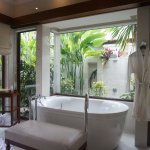 Indoor bath and Outdoor shower