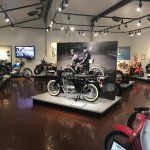 The Motorcycle Building at Gilmore Car Museum