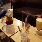 milk shake et thé glacé