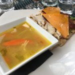 Ciabatta Club wtih soup